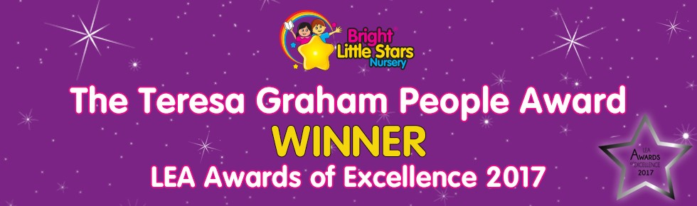 Bright Little Stars Nursery - LEA award banner