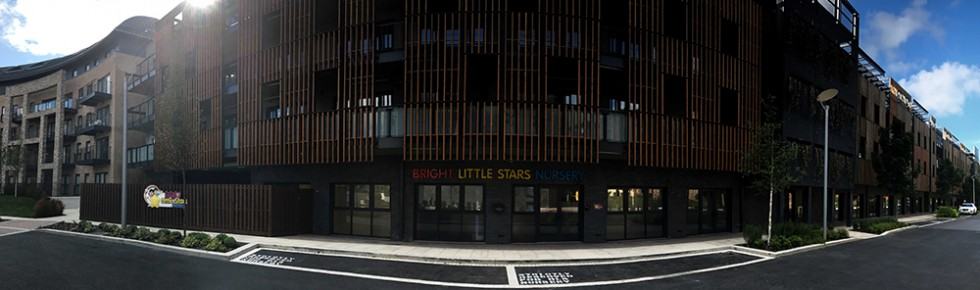 Bright Little Stars Nursery Stanmore - front of building pano 2