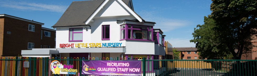 Bright Little Stars Nursery Harrow - front of building with banner
