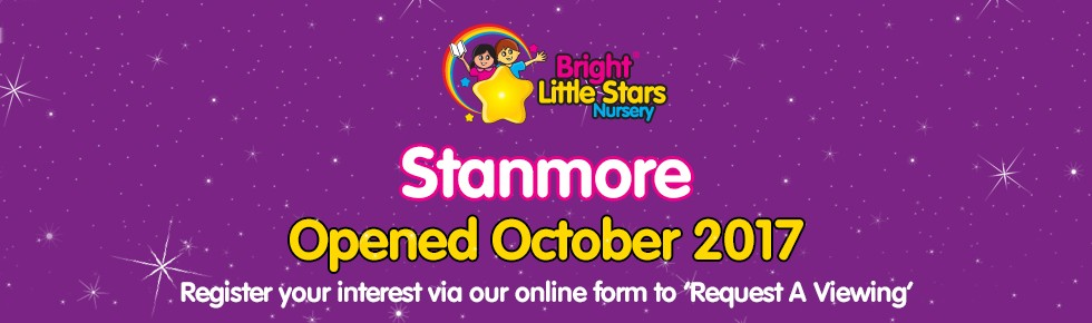 Bright Little Stars Nursery Stanmore - opened banner
